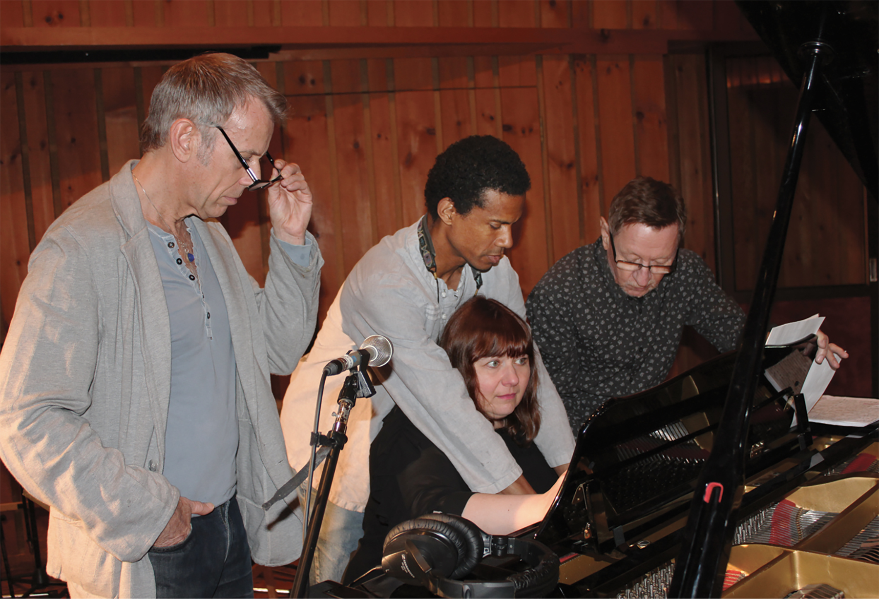 """At """"A Touch of Radiance"""" rec. session"""