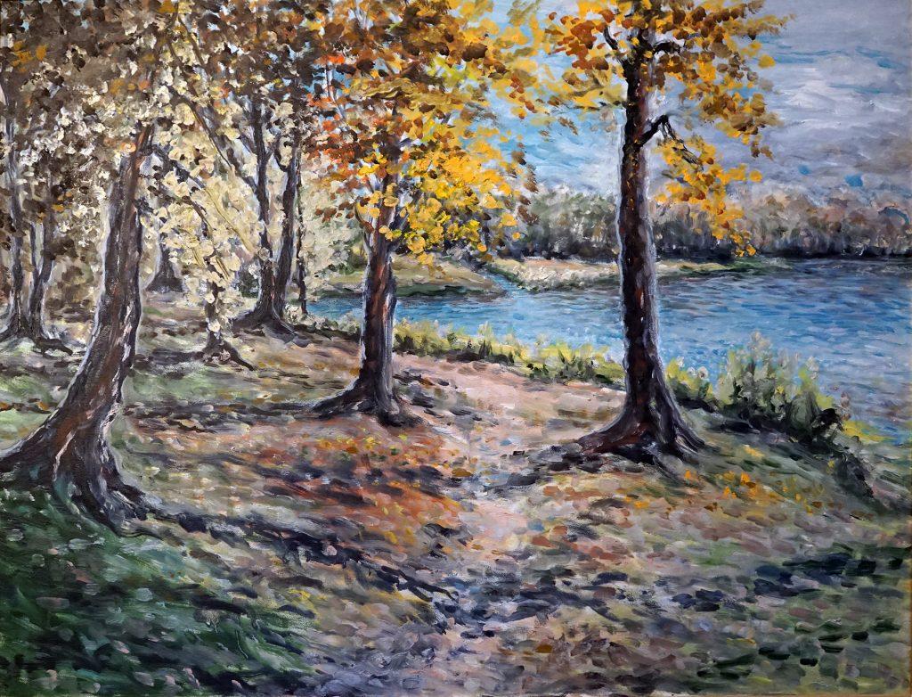 Fall in Oaks original painting