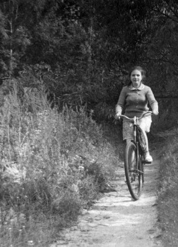 Lena on bike