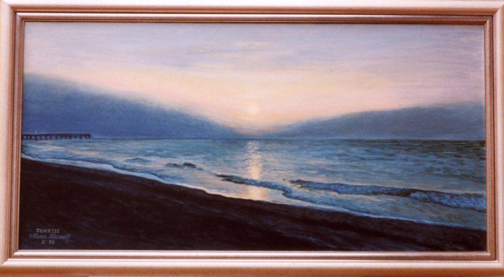 Ocean Sunrise original painting