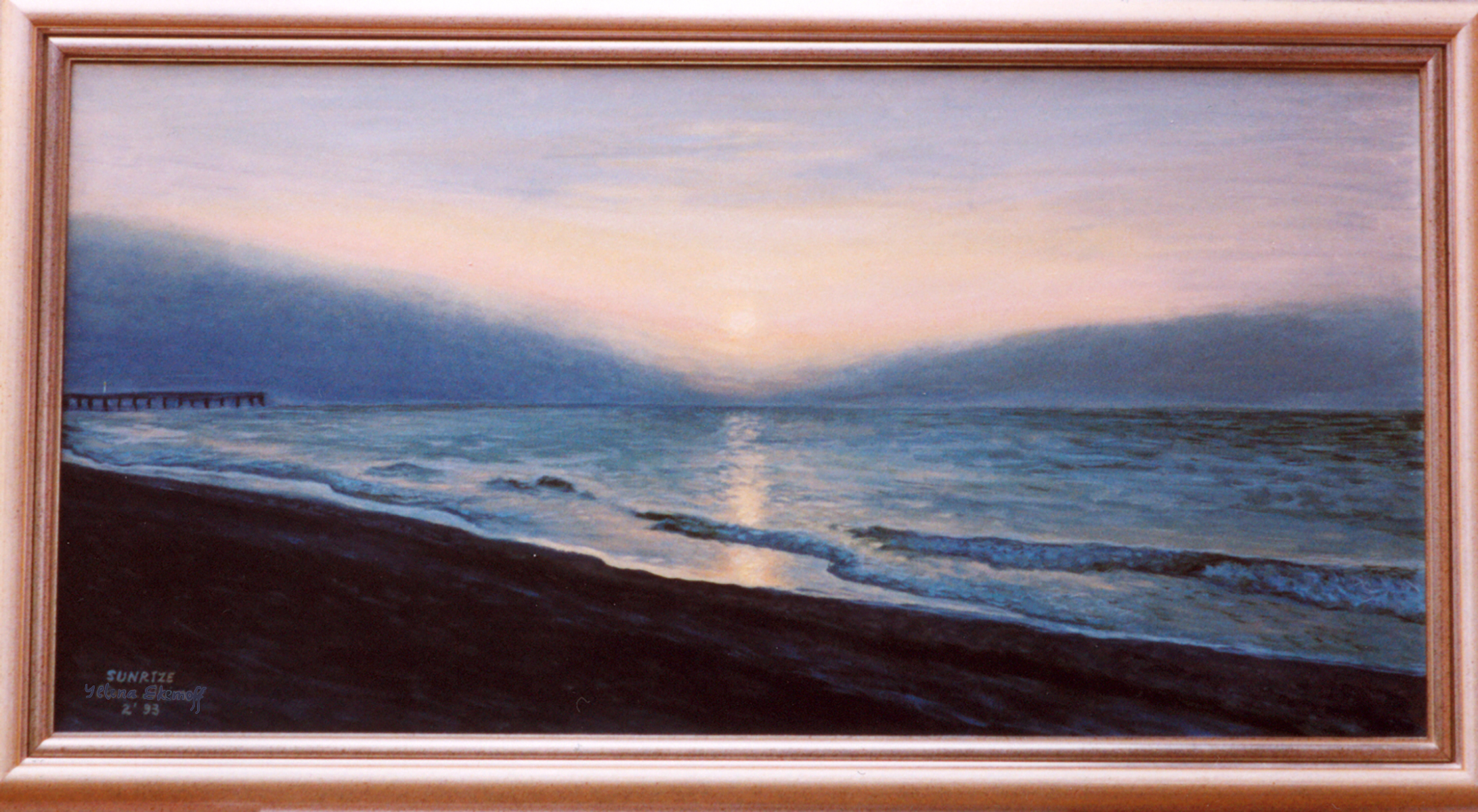 Ocean Sunrise original painting