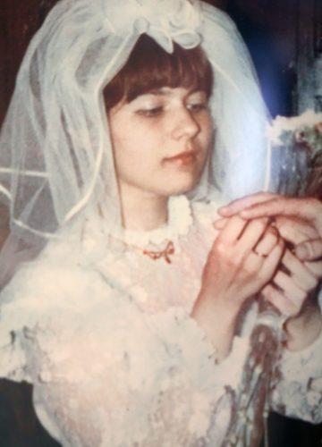 Yelena at wedding