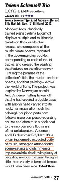 Lions in Jazzwise