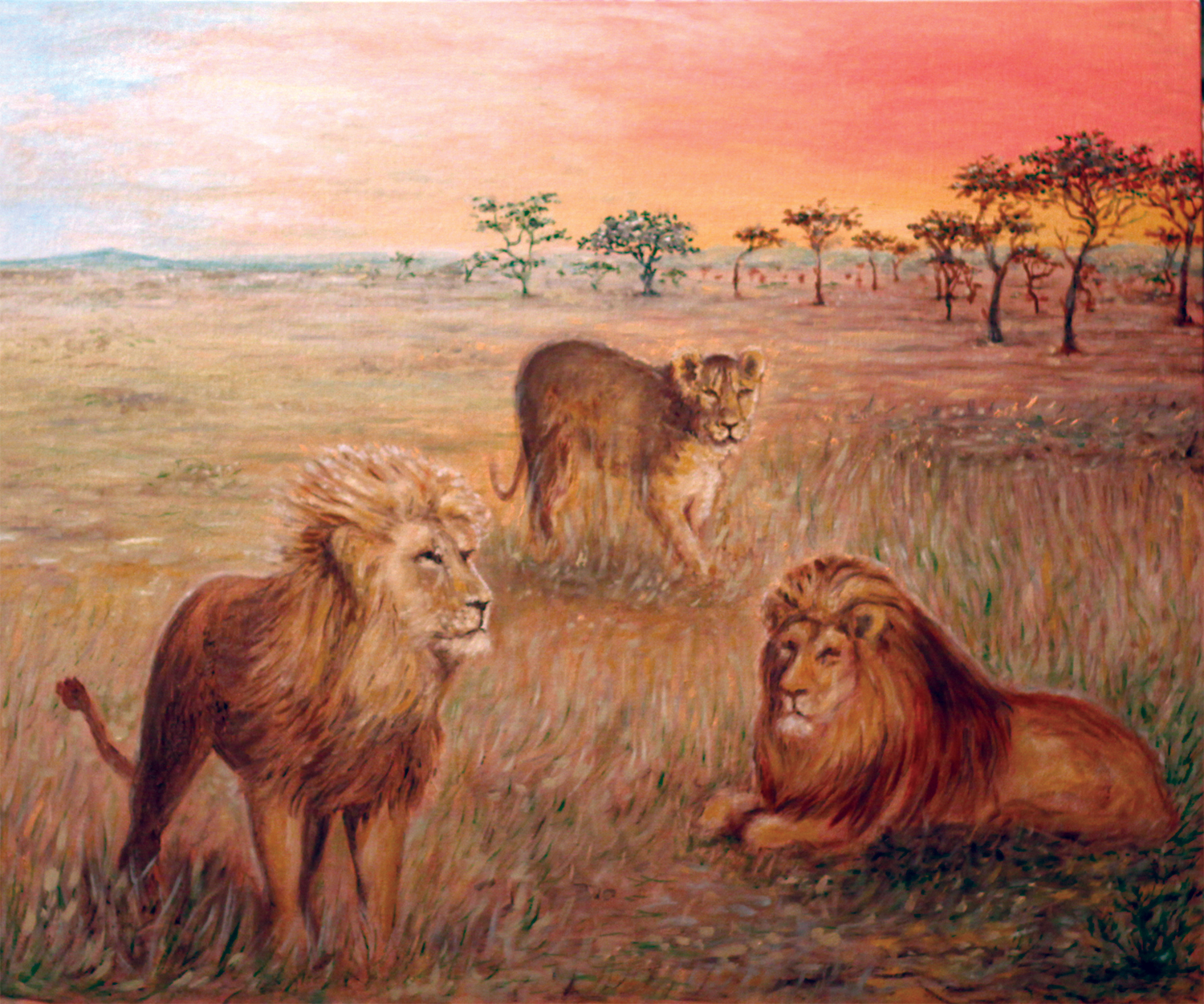 Lions painting