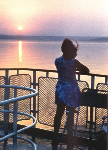 Sunset on a boat, 77