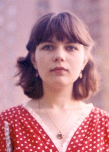 Yelena, 1981, red dress