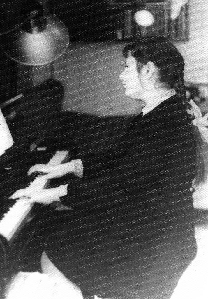 Yelena at piano, 73