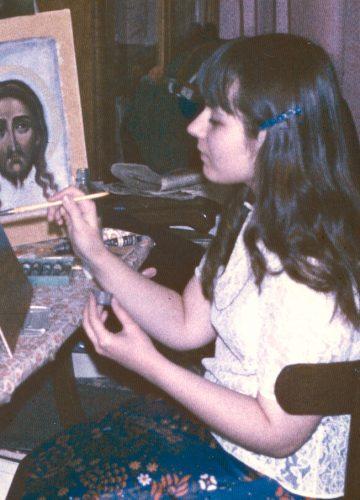 Yelena paints, 82