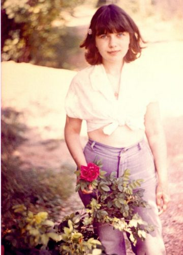 Yelena with a rose, 80