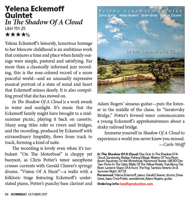 Cloud review in Downbeat