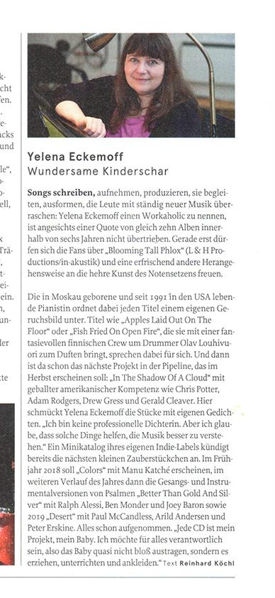 Reinhard Koehl for Jazzthing, September – October issue
