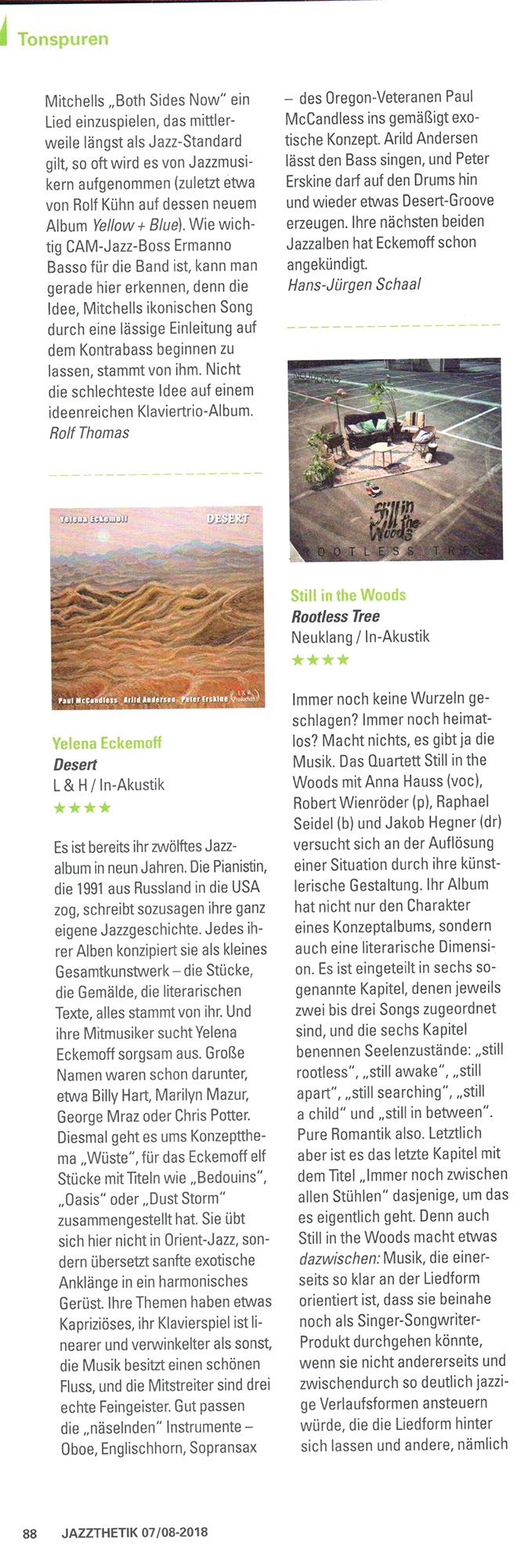Desert in Jazzthetik 7 8 2018