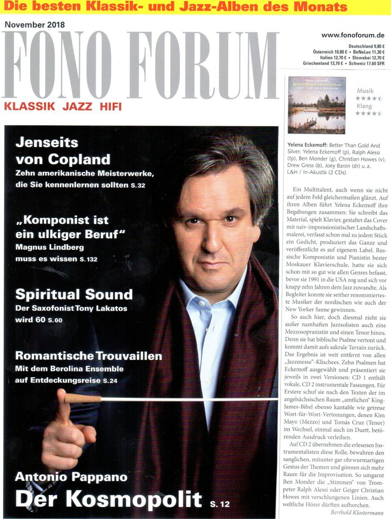 Berthold Klostermann for Fono Forum, November 2018 issue